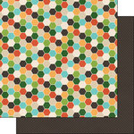 Scrapbook Customs - Outdoor Adventure Collection - 12 x 12 Double Sided Paper - Honeycomb