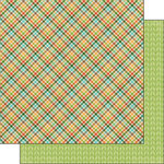 Scrapbook Customs - Outdoor Adventure Collection - 12 x 12 Double Sided Paper - Plaid