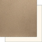 Scrapbook Customs - 12 x 12 Single Sided Paper - Craft Chevron