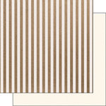 Scrapbook Customs - 12 x 12 Single Sided Paper - Craft Stripes