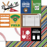 Scrapbook Customs - Baseball Life Collection - 12 x 12 Double Sided Paper - Baseball Life 1