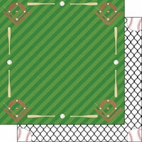 Scrapbook Customs - Baseball Life Collection - 12 x 12 Double Sided Paper - Baseball Life 6