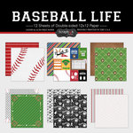 Scrapbook Customs - Baseball Life Collection - 12 x 12 Paper Set