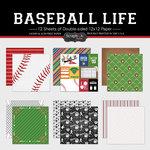 Scrapbook Customs - Baseball Life Collection - 12 x 12 Paper Set