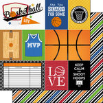 Scrapbook Customs - Basketball Life Collection - 12 x 12 Double Sided Paper - Basketball Life 1