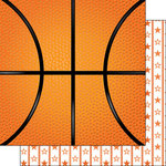 Scrapbook Customs - Basketball Life Collection - 12 x 12 Double Sided Paper - Basketball Life 4