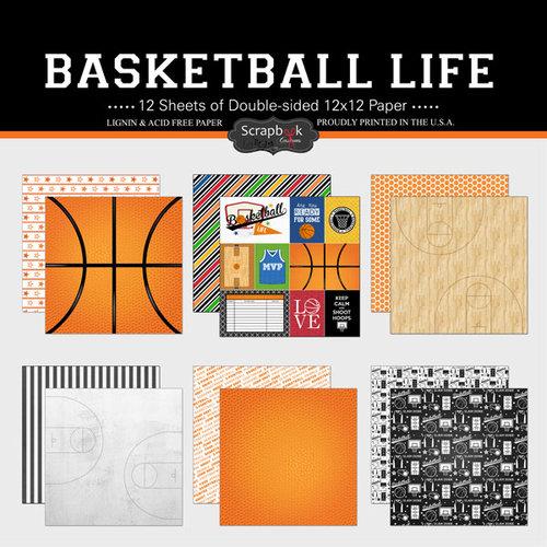 Scrapbook Customs - Basketball Life Collection - 12 x 12 Paper Set