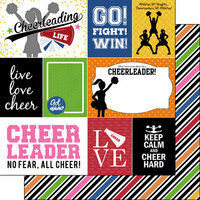 Scrapbook Customs - Cheer Life Collection - 12 x 12 Double Sided Paper - Cheer Life 1