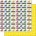 Scrapbook Customs - Cheer Life Collection - 12 x 12 Double Sided Paper - Cheer Life 5