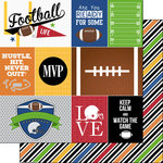 Scrapbook Customs - Football Life Collection - 12 x 12 Double Sided Paper - Football Life 1