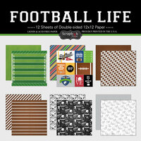 Scrapbook Customs - Football Life Collection - 12 x 12 Paper Set