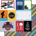 Scrapbook Customs - Hockey Life Collection - 12 x 12 Double Sided Paper - Hockey Life 1