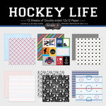 Scrapbook Customs - Hockey Life Collection - 12 x 12 Paper Set