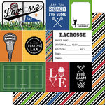 Scrapbook Customs - Lacrosse Life Collection - 12 x 12 Double Sided Paper - Lacrosse Life 1