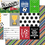 Scrapbook Customs - Soccer Life Collection - 12 x 12 Double Sided Paper - Soccer Life 1