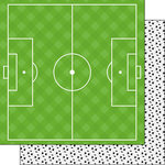 Scrapbook Customs - Soccer Life Collection - 12 x 12 Double Sided Paper - Soccer Life 5