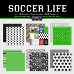 Scrapbook Customs - Soccer Life Collection - 12 x 12 Paper Set