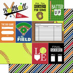 Scrapbook Customs - Softball Life Collection - 12 x 12 Double Sided Paper - Softball Life 1