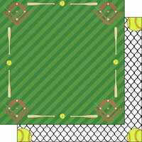 Scrapbook Customs - Softball Life Collection - 12 x 12 Double Sided Paper - Softball Life 6