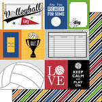 Scrapbook Customs - Volleyball Life Collection - 12 x 12 Double Sided Paper - Volleyball Life 1