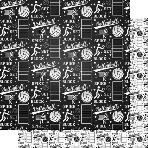 Scrapbook Customs - Volleyball Life Collection - 12 x 12 Double Sided Paper - Volleyball Life 2