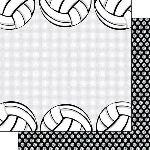 Scrapbook Customs - Volleyball Life Collection - 12 x 12 Double Sided Paper - Volleyball Life 4