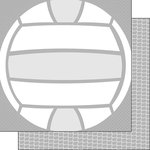 Scrapbook Customs - Volleyball Life Collection - 12 x 12 Double Sided Paper - Volleyball Life 5
