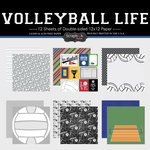 Scrapbook Customs - Volleyball Life Collection - 12 x 12 Paper Set