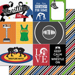 Scrapbook Customs - Wrestling Life Collection - 12 x 12 Double Sided Paper - Wrestling Life 1