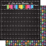 Scrapbook Customs - Day of the Dead Collection - 12 x 12 Double Sided Paper - Banner