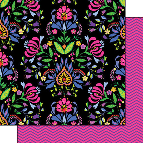 Scrapbook Customs - 12 x 12 Double Sided Paper - Mexican Flowers