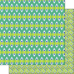Scrapbook Customs - 12 x 12 Double Sided Paper - Mexican Chevron