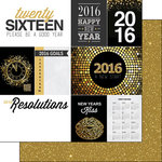 Scrapbook Customs - 2016 New Years Collection - 12 x 12 Double Sided Paper - Journal