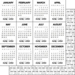 Scrapbook Customs - 2016 New Years Collection - 12 x 12 Double Sided Paper - Journal Calendar