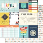 Scrapbook Customs - Travel Memories Collection - 12 x 12 Double Sided Paper - Journal