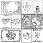 Scrapbook Customs - 12 x 12 Color Me Paper - February Coloring Journal