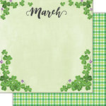 Scrapbook Customs - 12 x 12 Double Sided Paper - March Memories