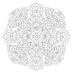 Scrapbook Customs - 12 x 12 Color Me Paper - March Mandala