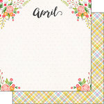 Scrapbook Customs - 12 x 12 Double Sided Paper - April Memories