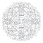 Scrapbook Customs - 12 x 12 Color Me Paper - April Mandala