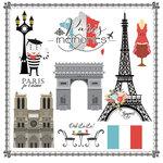 Scrapbook Customs - Travel Adventure Collection - 12 x 12 Paper - Paris Memories Cut Out