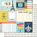 Scrapbook Customs - Travel Adventure Collection - 12 x 12 Double Sided Paper - Paris Memories Journal