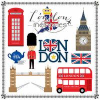 Scrapbook Customs - Travel Adventure Collection - 12 x 12 Paper - London Memories Cut Out