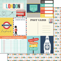 Scrapbook Customs - Travel Adventure Collection - 12 x 12 Double Sided Paper - London Memories Journal