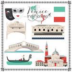 Scrapbook Customs - Travel Adventure Collection - 12 x 12 Paper - Venice Memories Cut Out