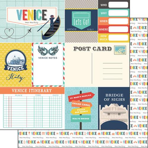 Scrapbook Customs - Travel Adventure Collection - 12 x 12 Double Sided Paper - Venice Memories Journal