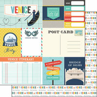 Scrapbook Customs - Travel Adventure Collection - 12 x 12 Double Sided Paper - Venice Memories Journal