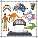 Scrapbook Customs - Travel Adventure Collection - 12 x 12 Paper - Sydney Memories Cut Out