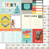 Scrapbook Customs - Travel Adventure Collection - 12 x 12 Double Sided Paper - Sydney Memories Journal