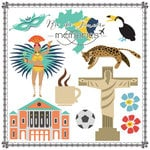Scrapbook Customs - Travel Adventure Collection - 12 x 12 Paper - Rio de Janeiro Memories Cut Out